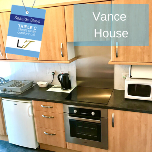 Vance House Blackpool TRIPLE C Self Catering Apartment Kitchen