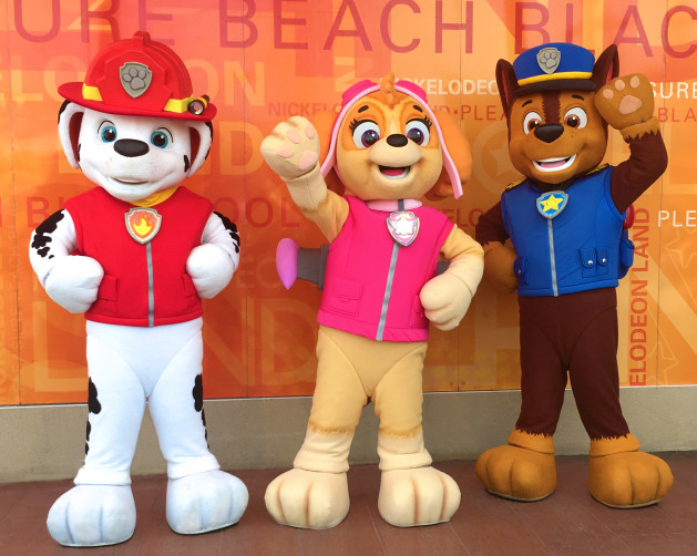 Blackpool Pleasure Beach Nickelodeon Land PAW Patrol Characters