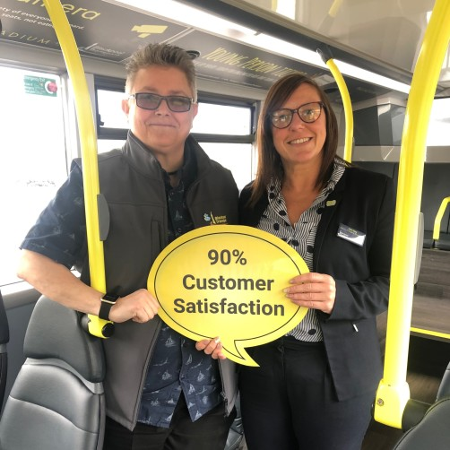 Bus users in Blackpool are amongst the most satisfied in the country