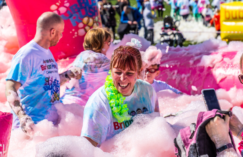 Bubble Rush Fundraising Foam Fun for Brian House Children's Hospice - Lawsons Showground Blackpool - Saturday 6 April 2019