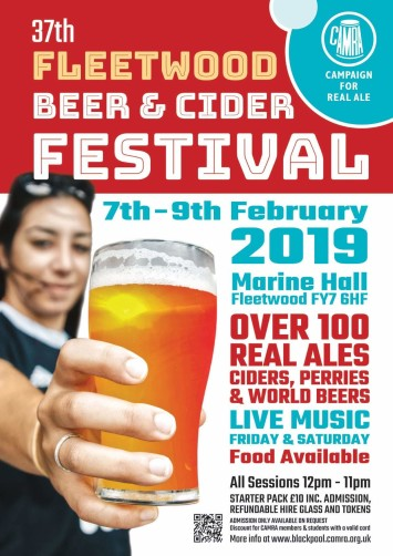 The 37th Fleetwood Beer & Cider Festival from the Blackpool, Fylde and Wyre Branch of Campaign for Real Ale