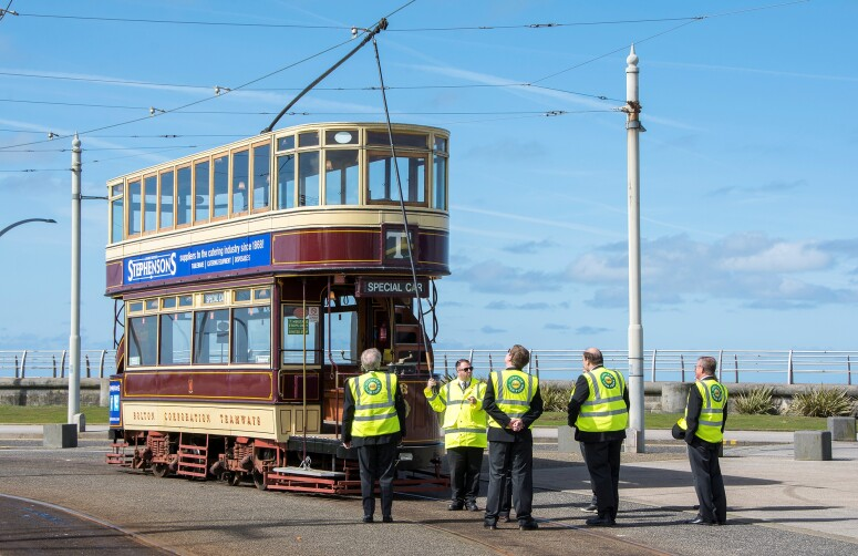 Blackpool Heritage Tram Tours receives the Queen's Award for Voluntary Service