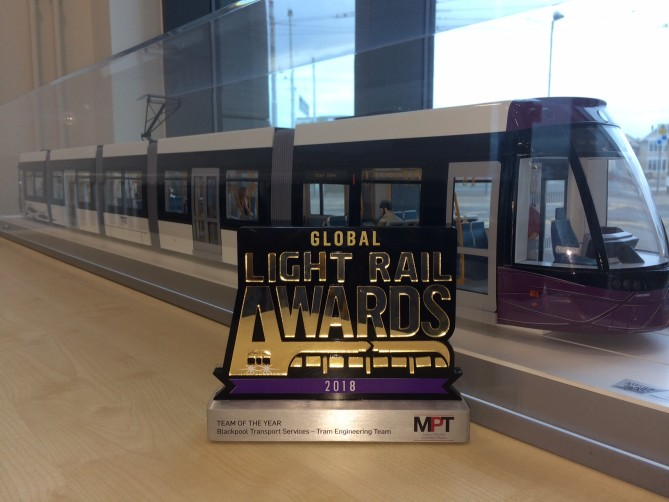 Global Light Rail Awards 2018 - Team of the Year, Blackpool Transport Services, Tram Engineering Teams