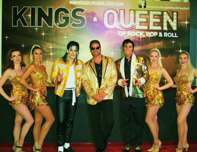 The Cast of Kings & Queens of Rock, Pop and Roll at Central Pier Showbar: Michael Jackson, George Michael, Elvis and Invincible Dance