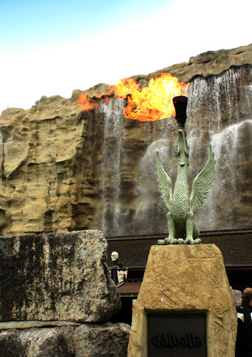 Valhalla Blackpool Pleasure Beach Fire Water