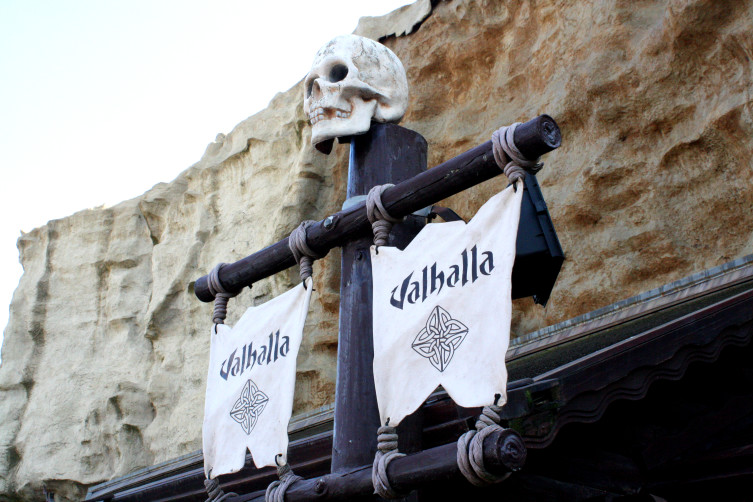 Valhalla Logo Banner Sign Blackpool Pleasure Beach