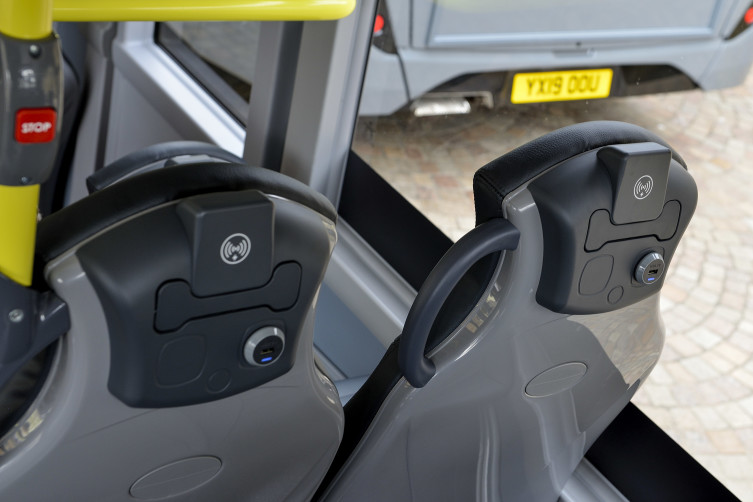 Blackpool Transport 15 new enviro200 Wireless Charging and USB Sockets