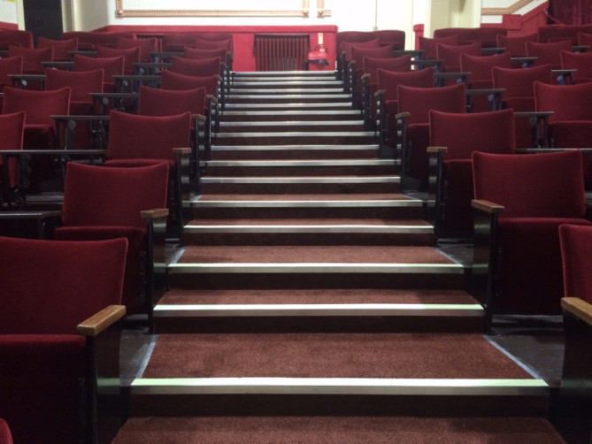 Seating at Blackpool's Regent Cinema