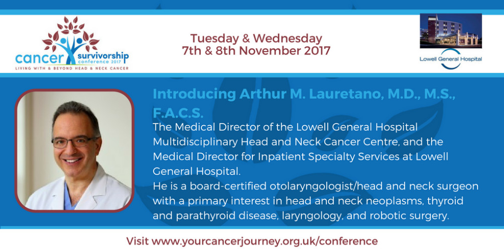 Arthur M. Lauretano of Lowell General Hospital - Keynote Speaker at Blackpool Cancer Conference