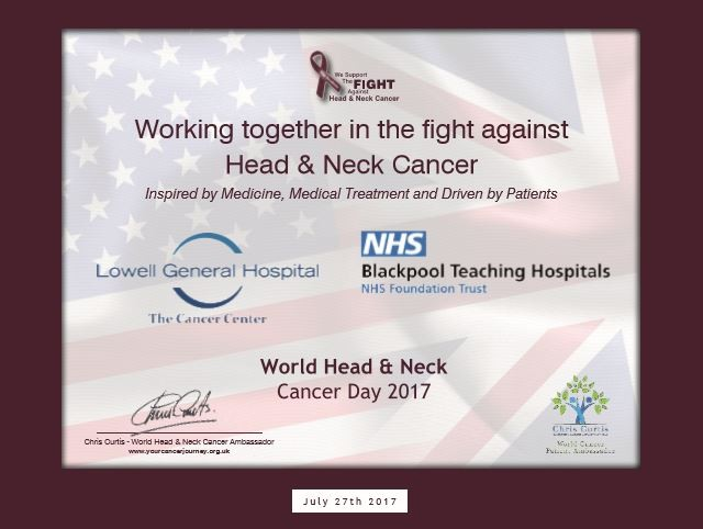 Twinning of Blackpool Teaching Hospitals with Lowell General Hospital for Cancer