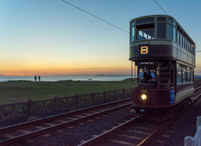Ghost Tram Blackpool Heritage Tram Tours Promenade Sunset