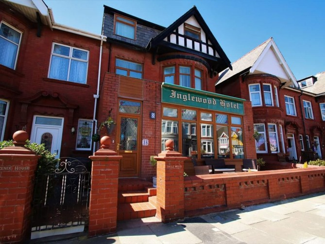 Exterior of The Inglewood Hotel, Holmfield Road, North Shore, Blackpool Hotel for Adults Only