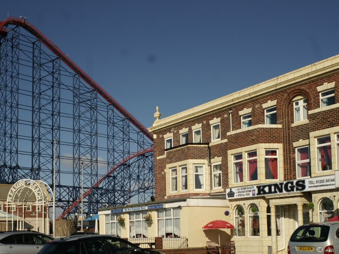Exterior of Kings, South Promenade, South Shore, Blackpool Hotel for Families and Couples