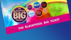 Save 50% on the Merlin Blackpool Big Ticket - 7 Attractions Discounted, Valid 90 Days including The Blackpool Tower Eye, The Blackpool Tower Dungeon, The Blackpool Tower Circus, The Blackpool Tower Ballroom, Madame Tussauds, SeaLife and Jungle Jim's