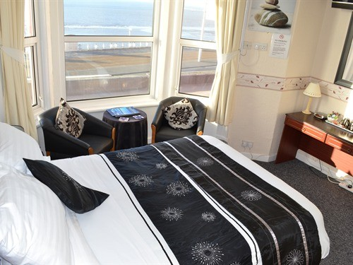Double Luxury Room with Sea View - Rockcliffe Hotel, North Promenade, North Shore, Blackpool Hotel for Families and Couples