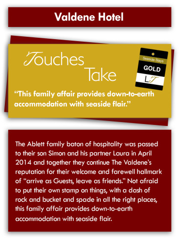 Touches Take Review - Valdene Hotel, Cocker Street, North Shore, Blackpool Hotel for Families & Couples
